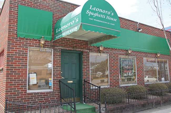 The exterior of Leonoro's Spaghetti House.
