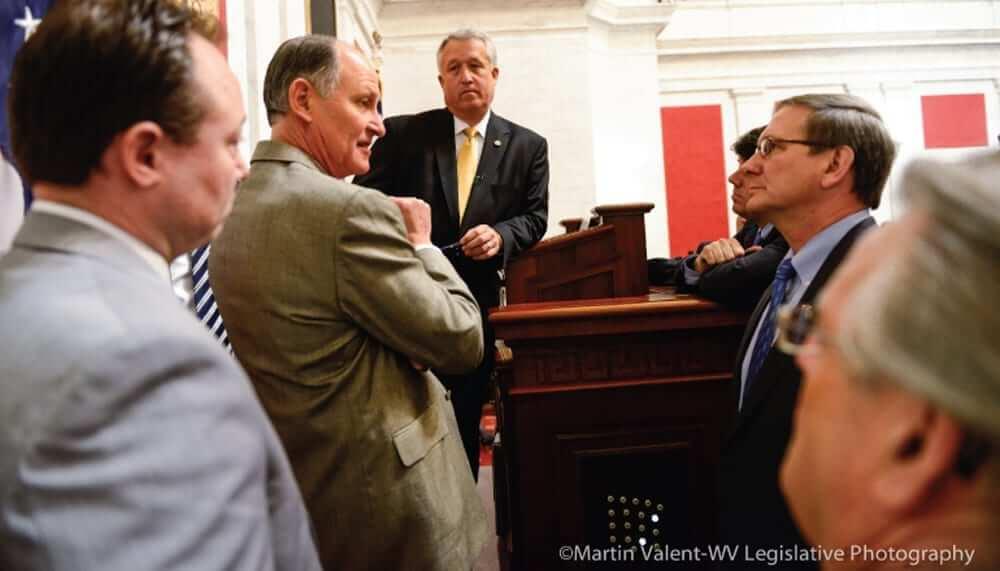 Congressmen discussing a topic