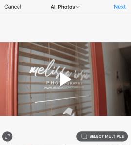 Full size instagram video
