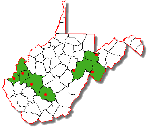 Counties hosting WVMTR races