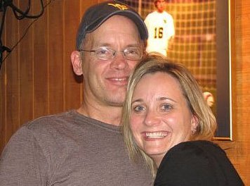 Dave and me at the Sports Page 2008