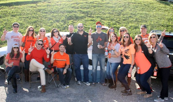 Oklahoma State fans tailgate in Purple Lot