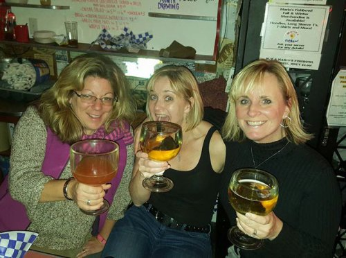 Laurie, Missy and I at Mario's Fishbowl