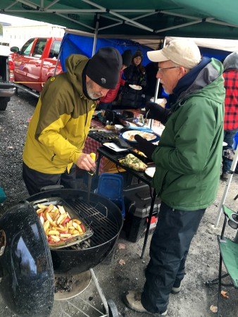 Cold, Wet, Wind-Bruised Day No Match For Well-Conditioned Tailgaters