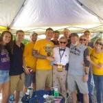 WVU President Gordon Gee visits gold lot