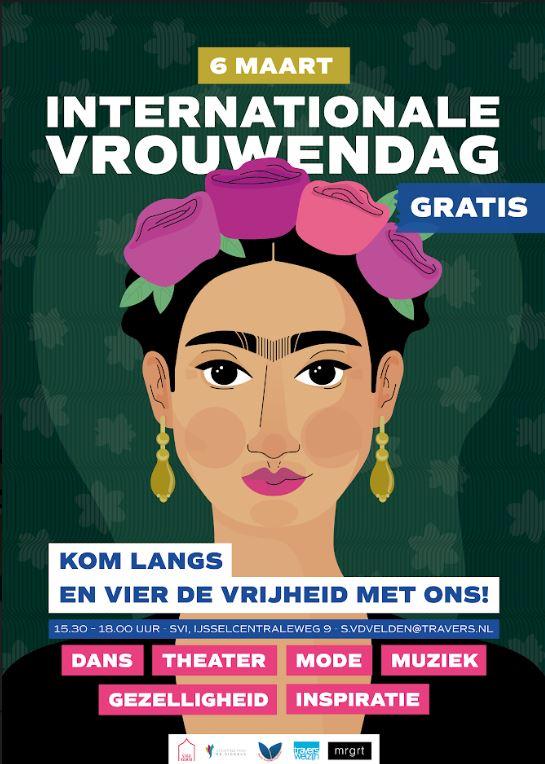 Zondag 8 maart Internationale Vrouwendag! Dit vieren we dit jaar groots op 6 maart bij  Buurthuis de Siggels in Zwolle Zuid.
