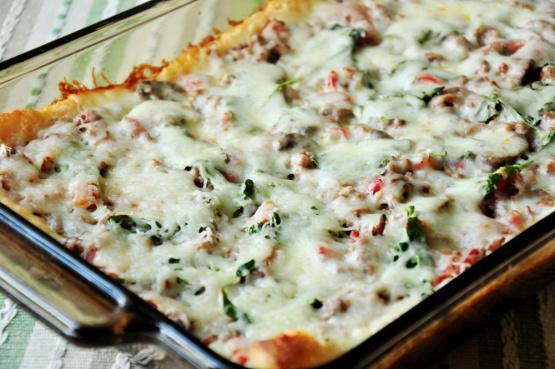 Weight Watchers Deep-Dish Pizza Casserole