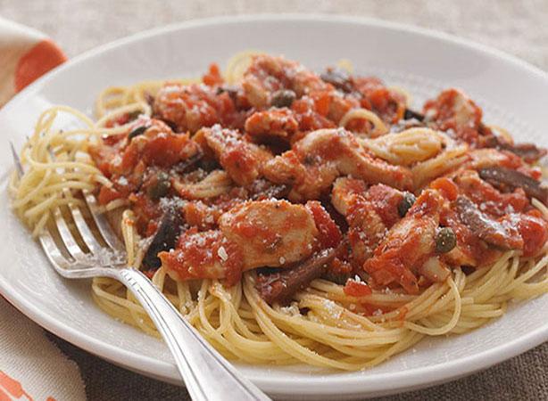 Weight Watchers Angel Hair Pasta Puttanesca Recipe with Chicken