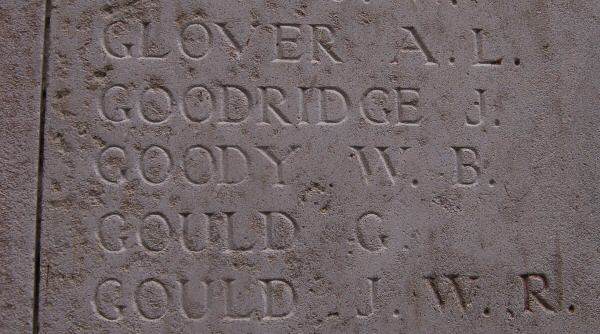 Private William Bertie Goody: one of many names on the Menin Gate