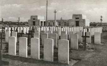 Passchendaele New British Cemetery in the 1930s