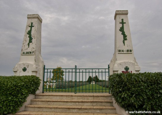 Entrance to the French National Cemetery at Albert