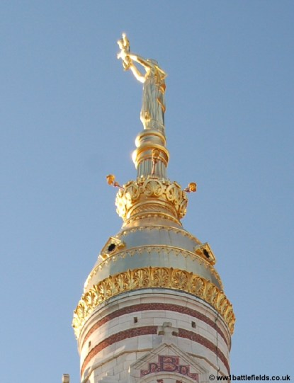 The Golden Virgin on top of Albert Basilica today
