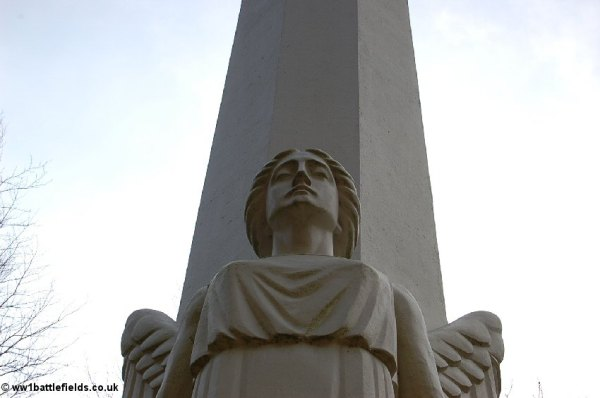 The Angel on the French Memorial at Mont Kemmel