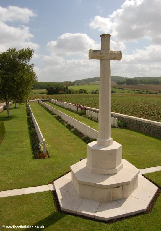 Cross of Sacrifice at Locre Hospice Cemetery