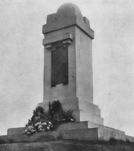 The original QVR Memorial photographed before WWII, Hill 60