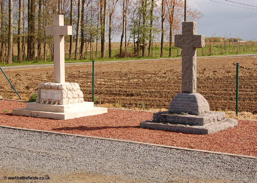 Memorials to Captains Bowlby and Skrine