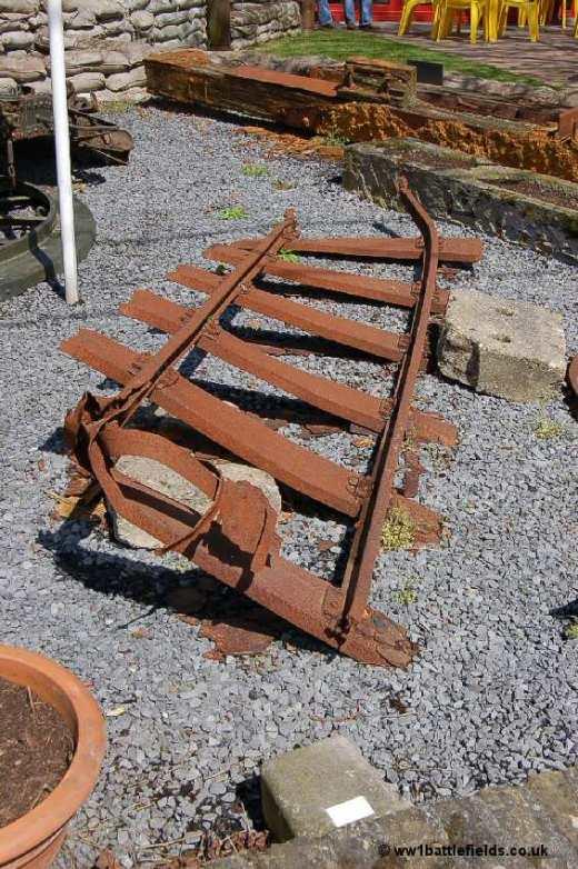 Rusting rail tracks at Hooge Crater Museum