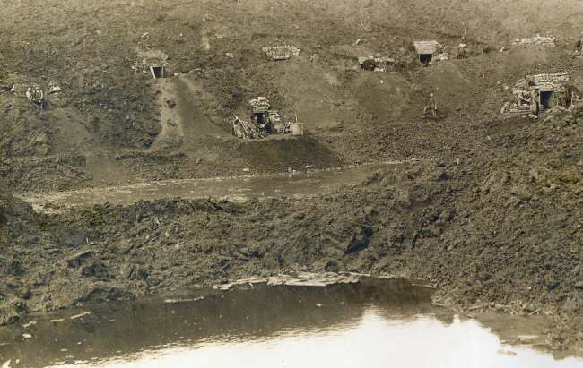 Dugouts at Hooge crater