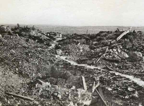 Messines in ruins