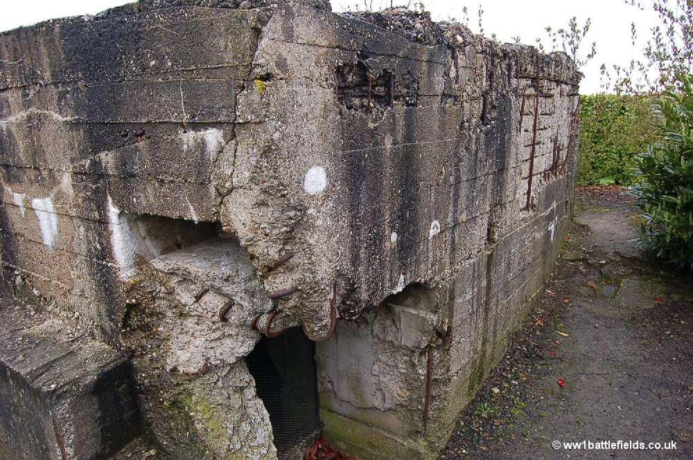 German bunkers in the New Zealand Memorial Park