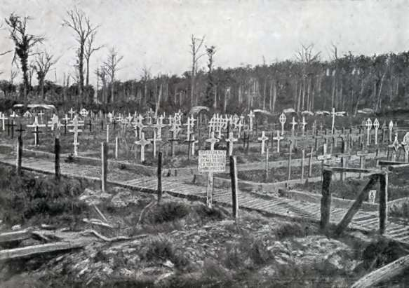 Plugstreet - The Royal Berkshire Cemetery Extension in 1919