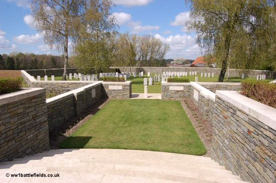 The hexagonal shaped enclosure of Polygon Wood Cemetery