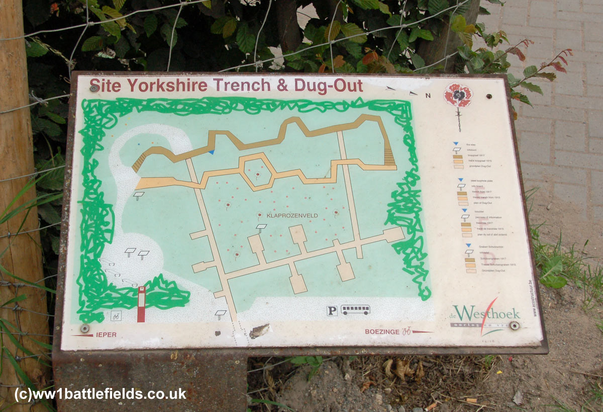 Yorkshire Trench Preserved Ww1 Trenches Near Ypres Battlefields Diagram I Found Out That Were Information Board At The