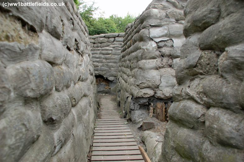 Interior of one of the trenches - Yorkshire Trench