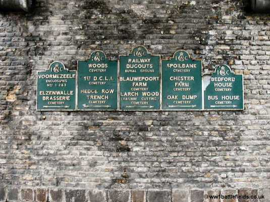 The original IWGC signs Ypres
