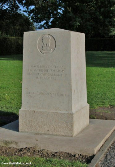 The Indian Memorial near the Menin Gate