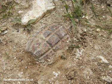 Grenade in track near Mametz