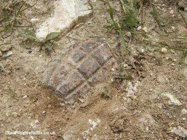 Grenade in track near Mametz