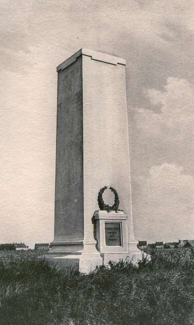 The memorial to the 20th Light Division in the 1930s - at Langemark