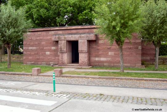The front entrance to Langemark German Cemetery