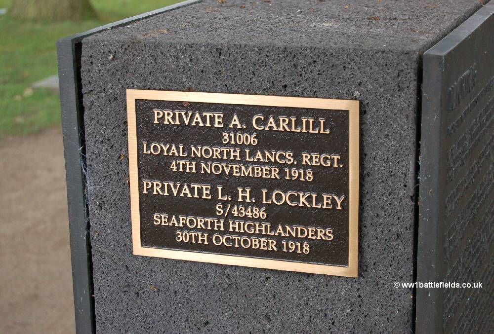 Two British soldiers are buried at Langemark German Cemetery