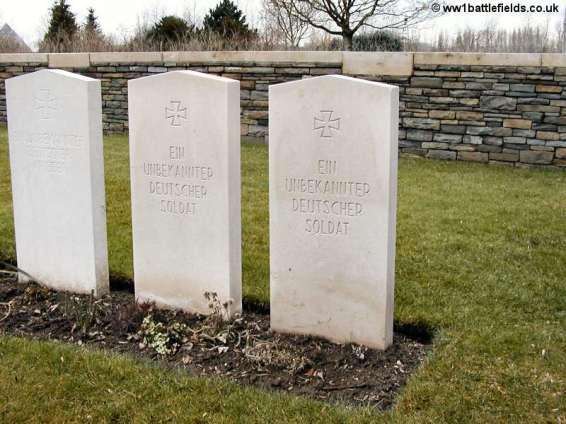Vermelles British Cemetery - German graves