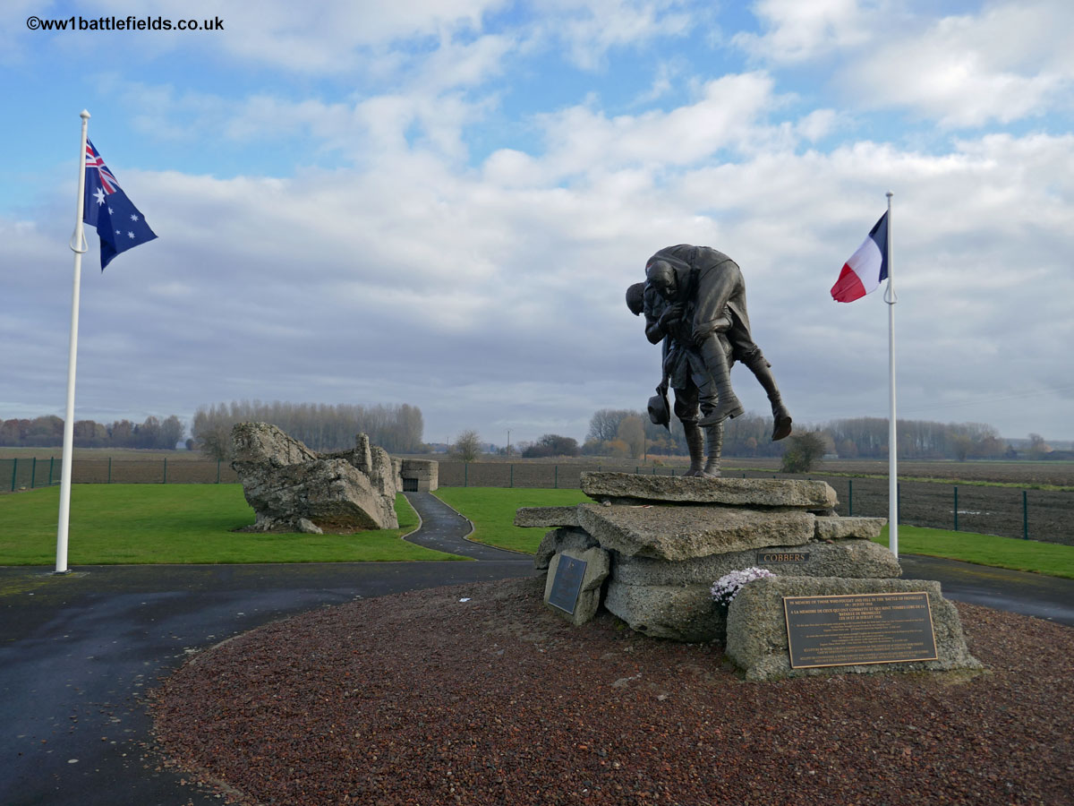 "The ""Cobbers"" statue, Fromelles"