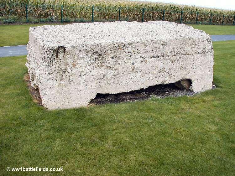 Bunker at Fromelles Australian Memorial Park