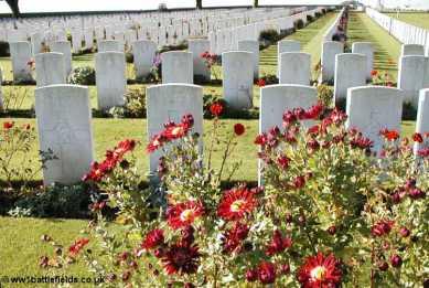 Beautiful flowers at Cabaret Rouge British Cemetery