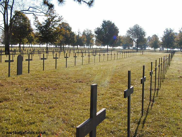 Graves at Neuville St. Vaast German Cemetery