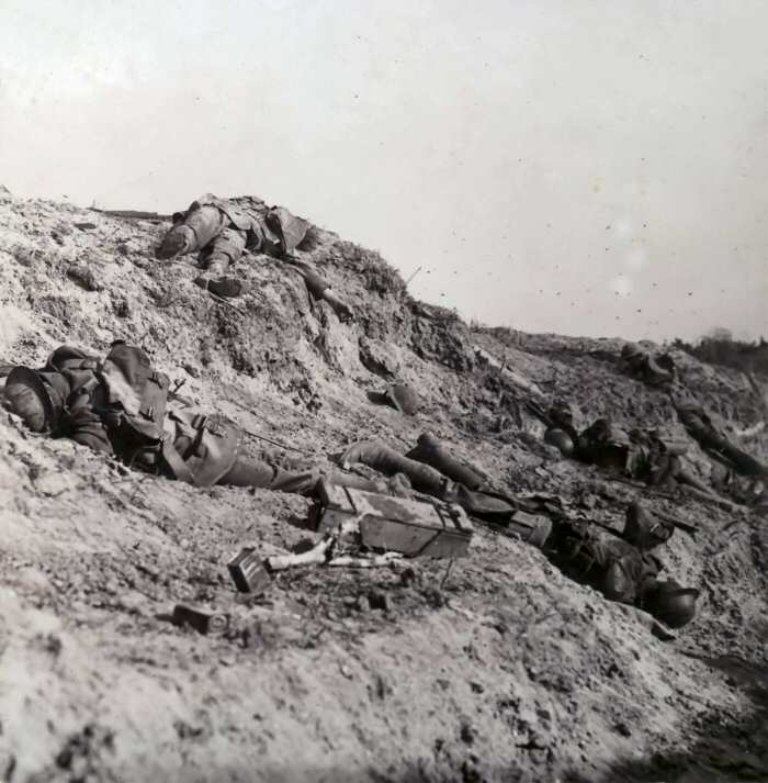 Canadian fallen at Vimy