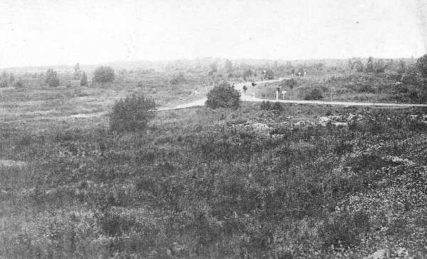 A view of the landscape at Vimy Ridge after the War