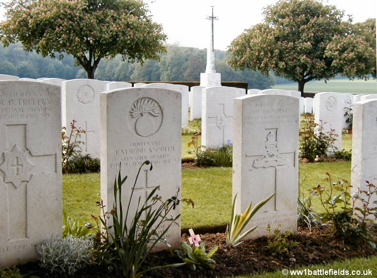 Grave of Raymond Asquith at Guillemont Road Cemetery