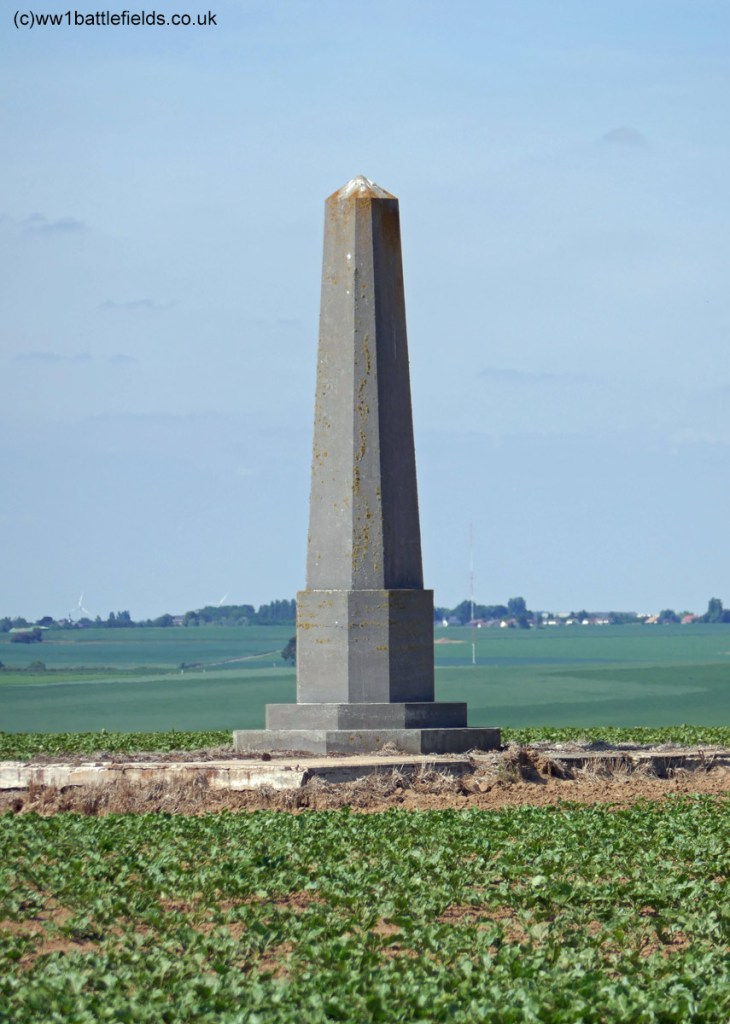 Private memorial to Captain Meakin near Ginchy