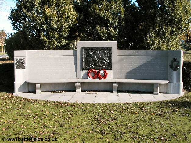The Tyneside Memorial seat at la Boiselle