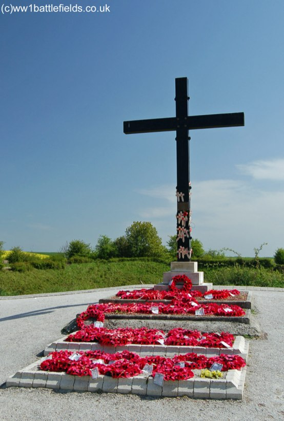 Memorial Cross above the Lochnagar Crater