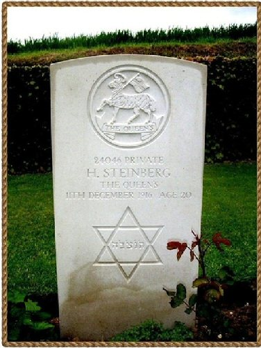 Harry Steinberg's grave showing the Star of David. Photo by Andy Green