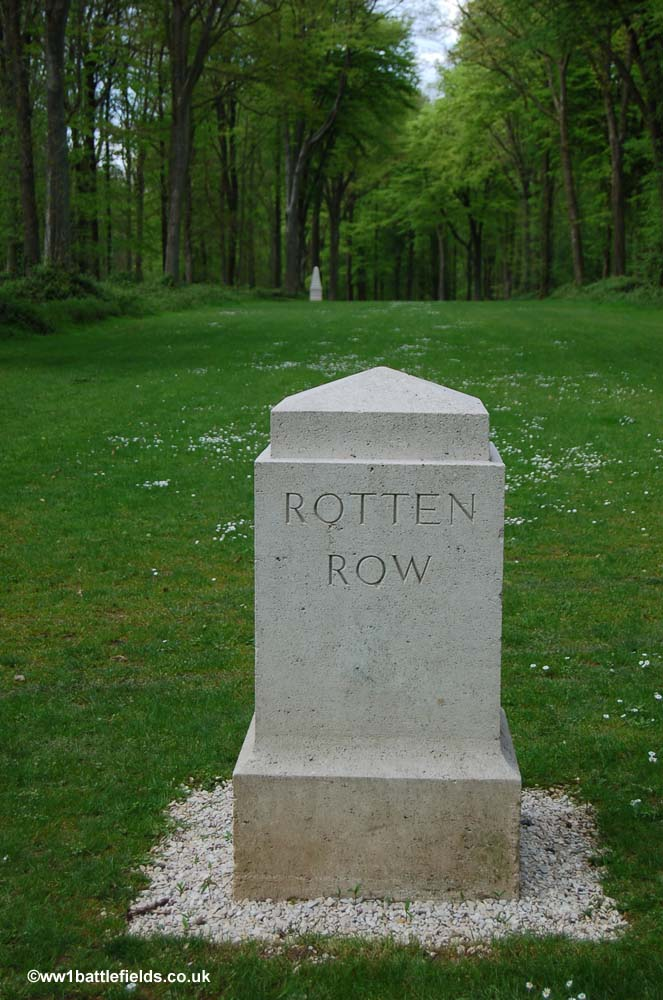 One of the Ride markers in Delville Wood