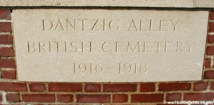 The entrance inscription at Dantzig Alley Cemetery