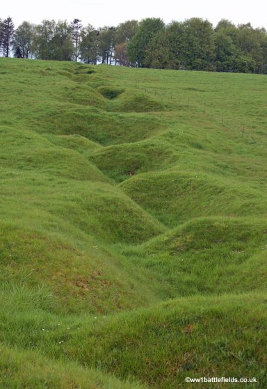 The trenches dug for the 13th November 1916 attack